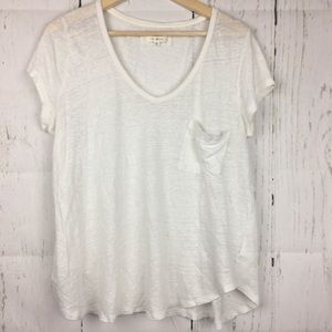 Anthropologie • Pure Good White S/S T-shirt Sz M
